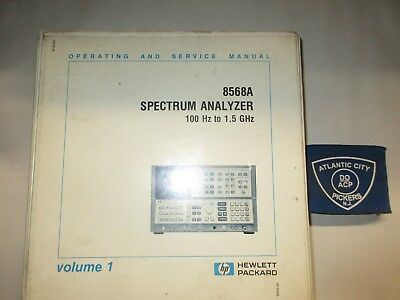 Hewlett Packard 8568A Vol.1 Operating And Service Manual
