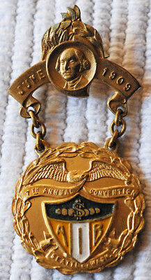 American Institute of Banking (AIB) Delegate Badge 1909 Convention 108 Years Old