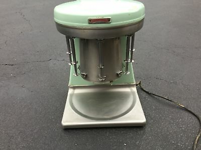 Sterling Multimixer Model 9B 5 Head Milkshake Stainless Cup Hamilton Beach Green