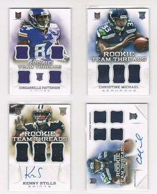 2013 Panini Momentum NFL Rookie Team Threads jersey auto numbered Football