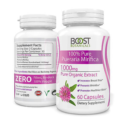 PUERARIA MIRIFICA 3000mg DAILY PURE EXTRACT BREAST ENLARGEMENT CAPSULES