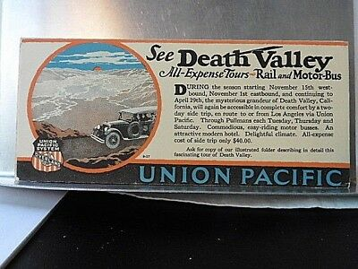 Railroad Blotter Union Pacific See Death Valley