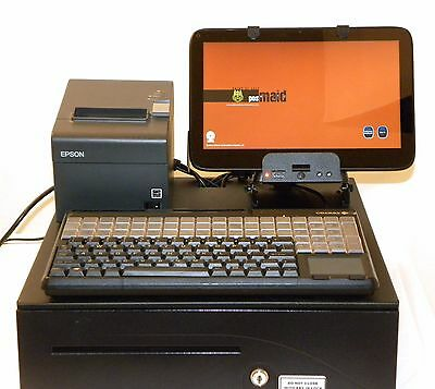 Tablet Based POS Cash Register w/ Pole Display & Scanner POS Software Incl.
