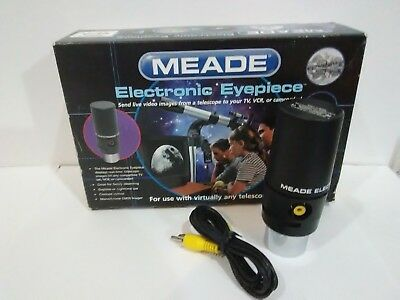"Meade Electronic Video Imager Eyepiece For Telescope w/ 1.25"" & 0.96"" Holder #L1"