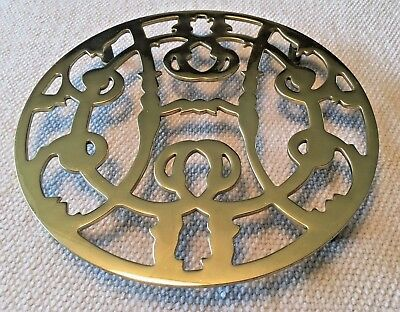 Vintage Baldwin Solid Brass footed Historic Charleston Reproductions Trivet