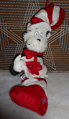 """63-Dr. Seuss Cat in the Hat Plush Official Christmas Christmas Stocking  24"""""""