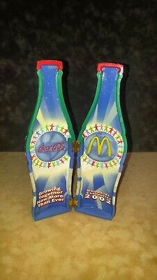 2002 McDONALDS/COCA-COLA CONVENTION HINGED DECORATIVE RESIN BOTTLE- PERFECT