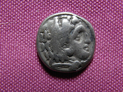 Ancient Greek Macedonia ,Alexander the Great , Silver Drachm ,  336 BCE