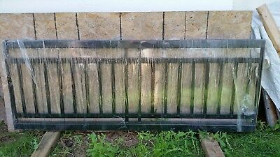 36 ft Arts & Crafts Wrought Iron Fence Panels