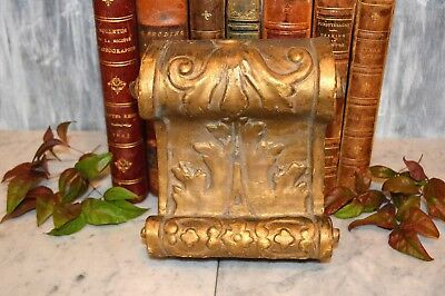 Antique French Carved Wood Scrolled Acanthus Gilt Corbel Bracket