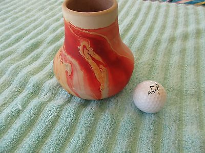 "Nemadji Art Pottery Vase USA Vintage Large 5.5"" Earth Tone Stone Vessel"
