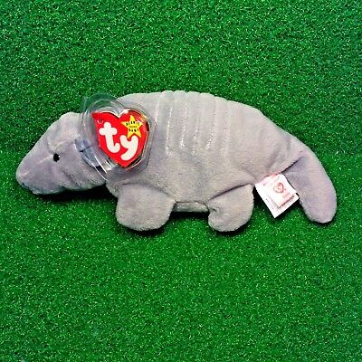 5d62ddaad79 RARE Ty Beanie Baby TANK Armadillo 7-Line No Shell   3rd Gen Canadian Tush