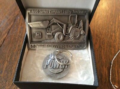 john deere 4000 tractor buckle and key ring. New in box