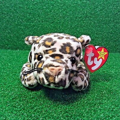 3a2e4250bb7 Ty Beanie Baby Freckles The Leopard Cat 1996 Retired PE Plush Toy FREE  Shipping