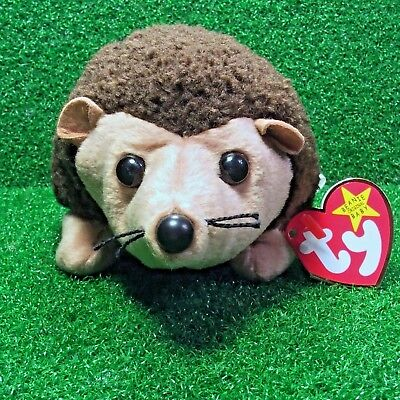 Ty Beanie Babies 1998 Prickles The Hedgehog Retired Plush Toy MWMT - Ships FREE