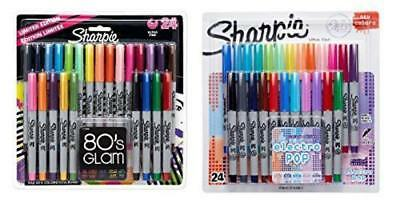 Sharpie Ultra-Fine Point Permanent Markers, 80s Glam and Electro Pop Colors, ...