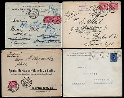Old Cover Selection EGYPT 4 Stück Briefe Ägypten Cairo to Germany gel. ab 1903