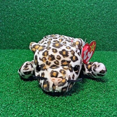 51050473d1d Freckles The Leopard Cat 1996 Retired Ty Beanie Baby PVC Plush Toy FREE  Shipping