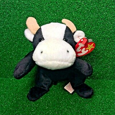 New Ty Beanie Baby Daisy The Cow 1994 Retired PVC Plush Toy MWMT - FREE Shipping