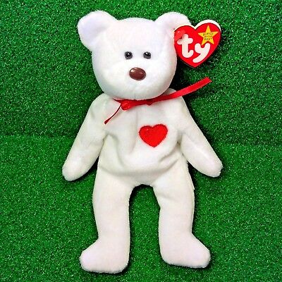Ty Beanie Baby Valentino Bear Retired PVC Valentine's Day MWMT - 5th BOTH Errors