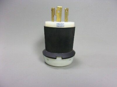 NEW HBL2621 Hubbell USA Mains Plug NEMA L6 - 30P, 30A, Cable Mount, 250 V ac
