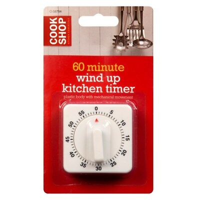 60 Mintue Adjustable Kitchen Timer Cooking 1 Hour Baking Quick Easy Classic