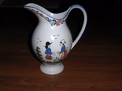 Blue Ridge Tennessee Erwin Pottery PITCHER pattern FRENCH PEASANT 40 oz  Signed