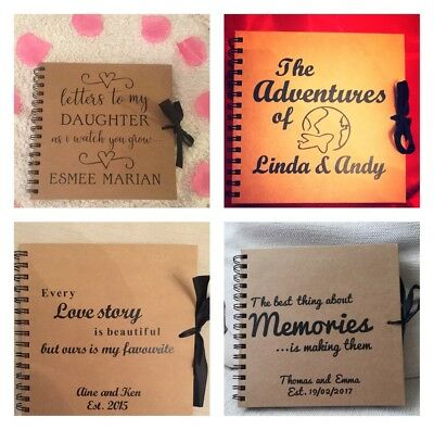 Personalised Scrapbook Memory Photo Album Adventure Book, Anniversary, Valentine