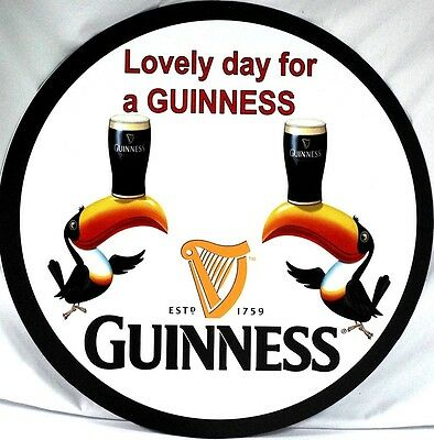 "Guinness Beer ""Lovely Day for a Guinness""  24"" Metal Sign"
