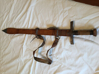 Antique Sword Leather Sheath Hand Made