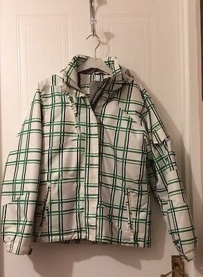 Girls Tog 24 White And Green Checked Snow Jacket Age 13