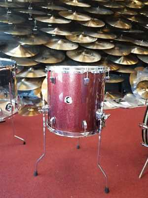 "Ludwig 14x14"" Floor Tom Element Evolution Evo Red Sparkle Drum  LCEEFT1425"