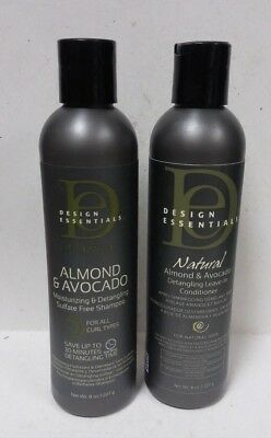 2 Pack Design Essentials Natural Almondavocado Shampooleave In Conditioner 8oz