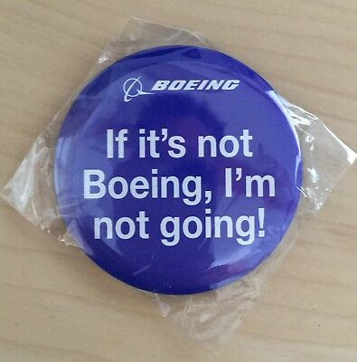 If it's not Boeing, I'm not going! --> 58 mm Button aus Metall mit Anstecknadel