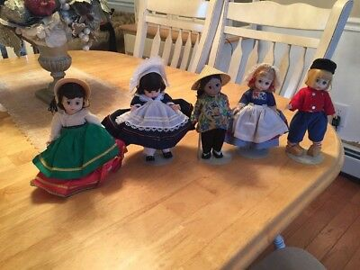 Vintage Madame Alexander Doll Lot of 5 - China, Italy, France, Netherlands