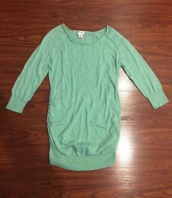 Motherhood Maternity Sweater Tunic Green Size Large L