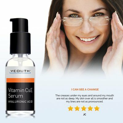 YEOUTH Vitamin C and E Day Serum with Hyaluronic Acid., anti aging skin care