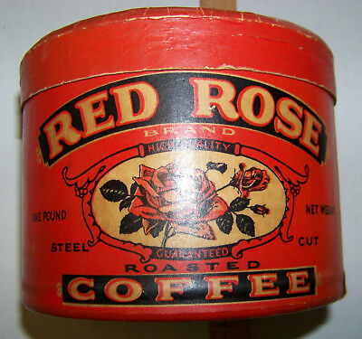 Red Rose Coffee Cardboard 1 Pound Container - Marshalltown Iowa
