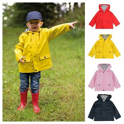 PVC Rain Coat Hooded Baby Toddler Boys Girls Kids Childrens 6 Months - 4 Years