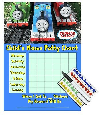 Kids Children Boys Potty Training Sticker Reward Chart - THOMAS THE TANK