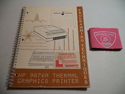 Hewlett Packard Hp 9876A Thermal Graphics Printer Programming Techniques