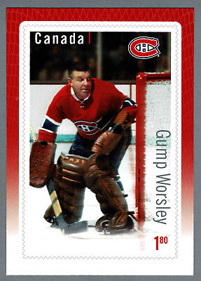 """2015 Canada Post Great Canadian Goalies, Canadiens' Gump Worsley 6""""x9"""" Ad Promo"""