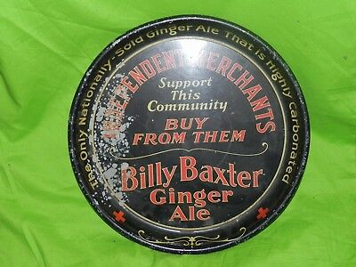 Early Billy Baxter Carbonated Ginger Ale Serving Advertising Tray