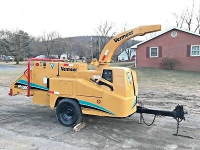 Vermeer Bc1000Xl Wood Chipper Cummins Diesel Engine Drum Chipper Bob Cat Grinder