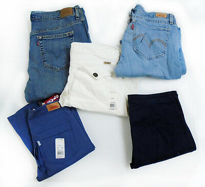 NWD Women LEVIS 10 Pieces assorted sizes styles colors Rip cut jeans mix #3