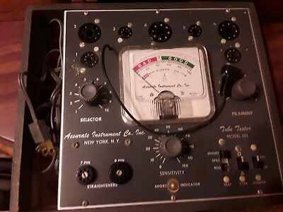 Vintage Radio Tv Tube Tester Accurate Instrument Co