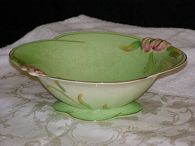 Antique Royal Winton Tiger Lily Pattern Bowl 1930s-Made in England Handpaint Gol