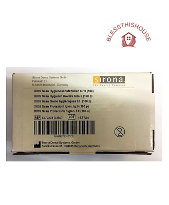 Sirona Xios Scan Hygienic Covers Size 0 (100 Pk) - Brand New - Ref:6479278 D3607