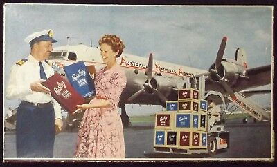 1950's AUSTRALIAN ADVERTISING PACKAGING BOX BISLEY SHIRTS & AIRLINE ANA GD COND.