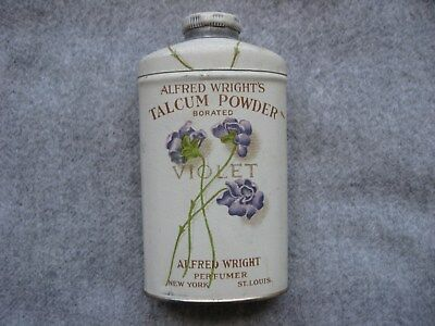 Alfred Wright's Violet Talcum Powder Tin